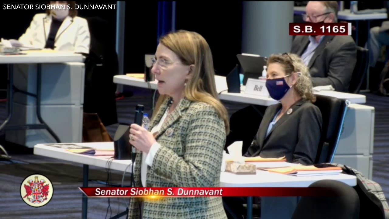 Senator Siobhan Dunnavant Speaking to SB1165 on the Senate Floor