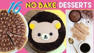 NO BAKE DESSERTS - 12 Simple Dessert Recipes - Toblerone Tart, Ferrero Bowls & More