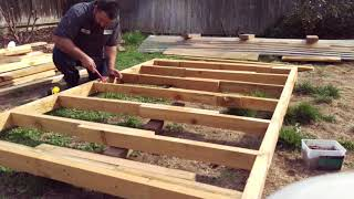 Building A Playhouse For My Kids Almost For Free (Phase One The Floor) Diy Play House