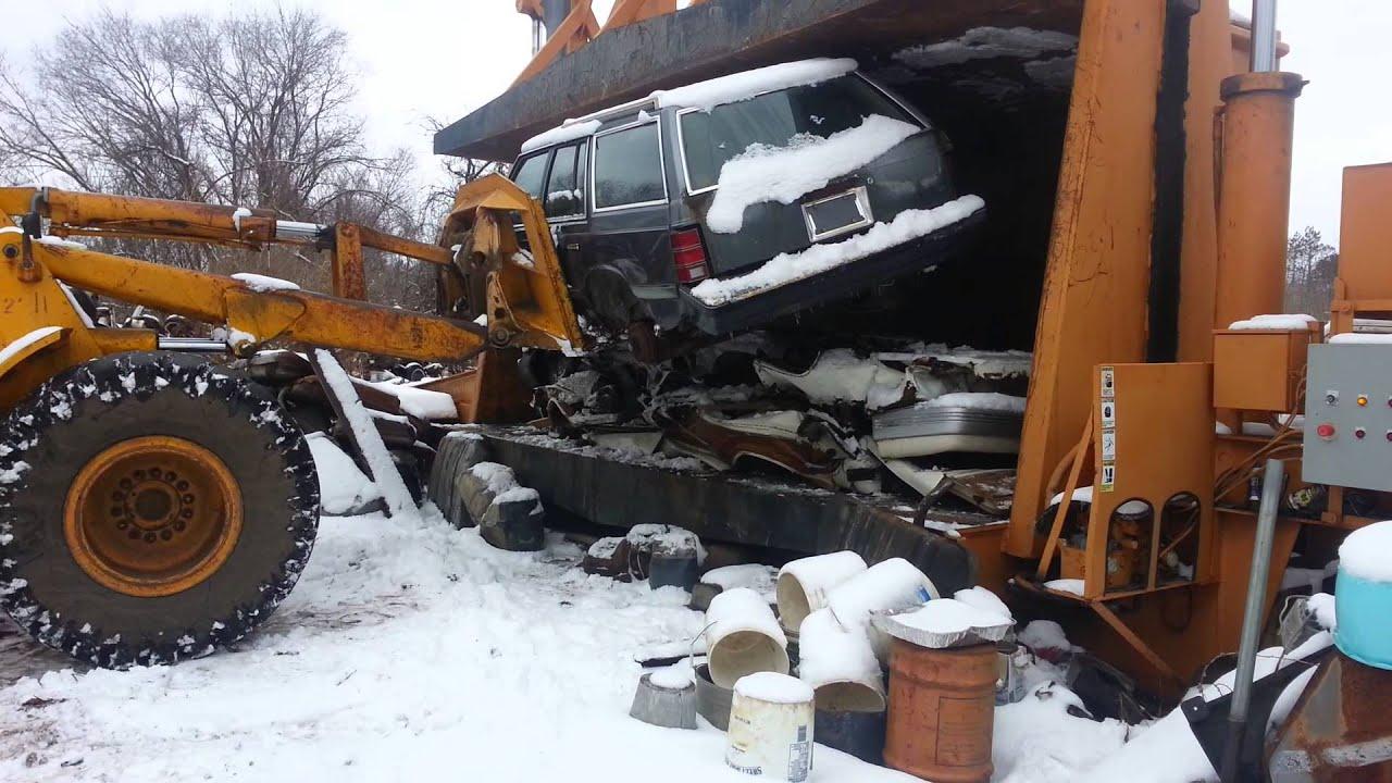 1990 Ford Truck >> Car crusher crushing cars 17 - YouTube