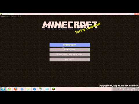 how to get minecraft for free latest version (1.7.3 in the video) (no login needed!)