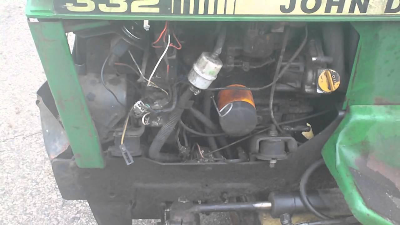 John Deere 332 >> JOHN DEERE 322 ENGINE YANMAR 3TG66UJ - YouTube