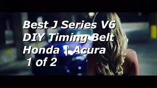 BEST DIY Honda Acura V6 J Series Timing Belt Replacement PART 1 | Bundys Garage