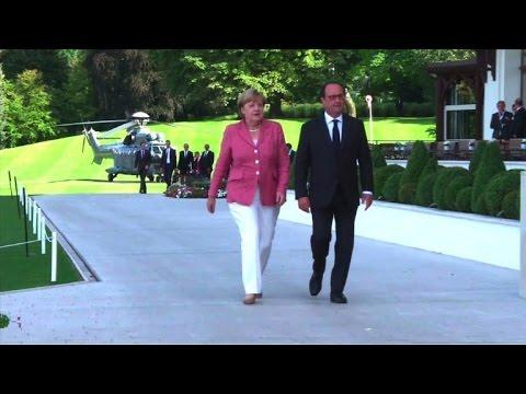 Rencontre Hollande-Merkel à Evian
