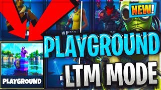 NEW Playground Mode LTM Features Gameplay / Unlimited Resources & Loot LLams /Fortnite Battle Royale