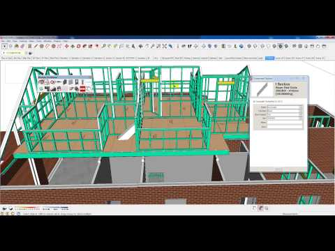 BIM in sketchup with Plusspec, real time 3d, 4d , 5d ,
