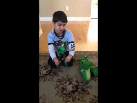 Hilarious green lantern versus tyrannosaurs Rex