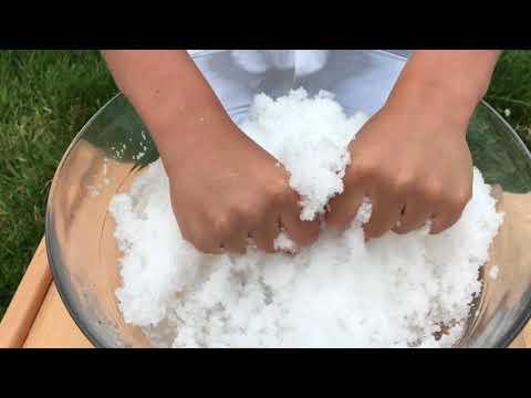 Как сделать искусственный снег видео 87