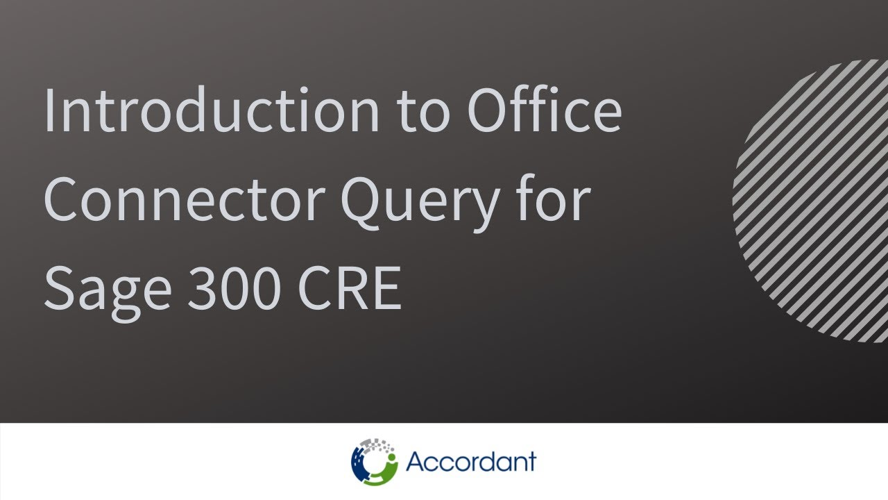 Office Connector Query Overview for Sage 300 CRE