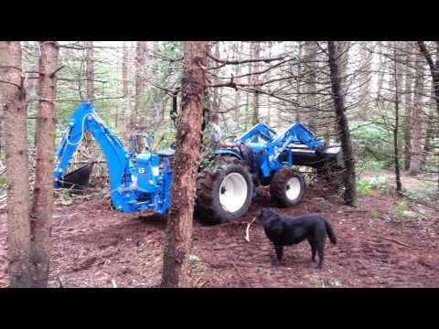 Dan With LS4047 Tractor/Loader/Backhoe In Our Woods- 20160814 1352411