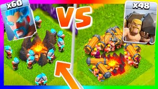 Clash of Clans ALL ICE WIZARDS VS ALL BATTLE RAMS! Which Special COC Troop Is Better?