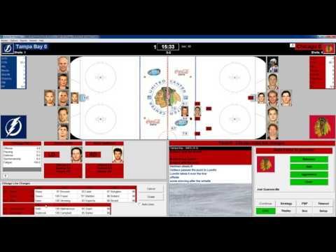Action PC Hockey 2009 Tampa Bay at Chicago Game 31 Replay