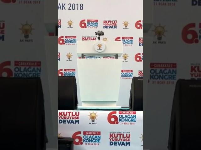 Ak Parti Çanakkale 6. Olağan İl Kongresi