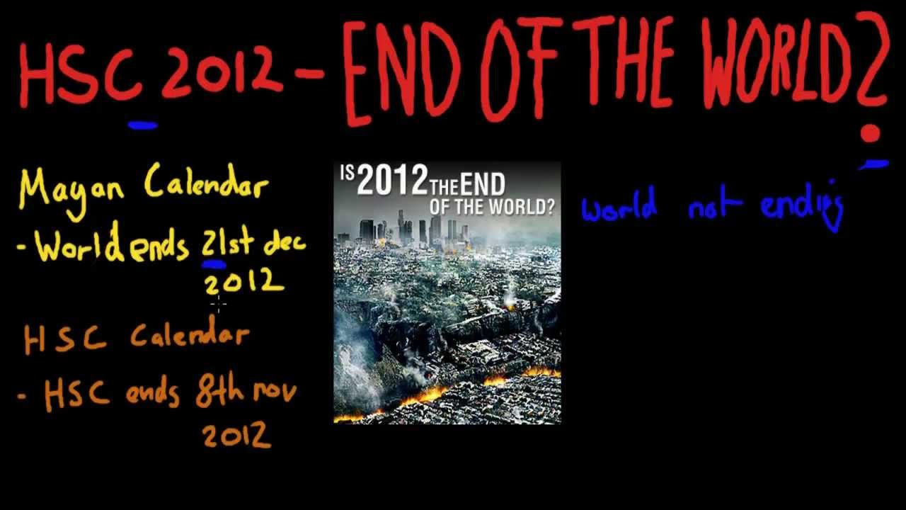 2012 end of the world Supposed maya predictions of the end of the world in 2012 have some people seriously scared see what experts say about the unknown planet predicted to pummel earth, the cataclysmic galactic alignment, and more.