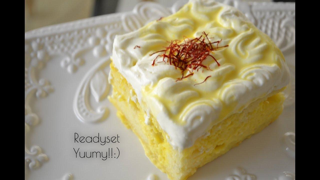 كيكة الزعفران Saffron Cake Youtube