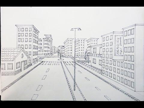 Tek Noktali Bir Sokak Cizimi Youtube