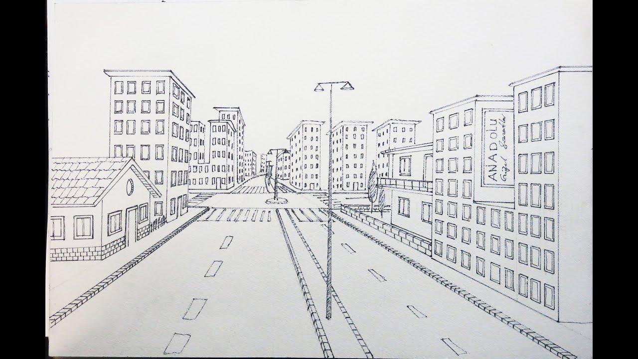 Tek Noktalı Bir Sokak çizimi Youtube