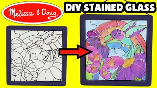 ★Melissa & Doug - Peel & Press Stained Glass Kit★ DIY Kids Arts & Crafts Unboxing Video Crafts Video