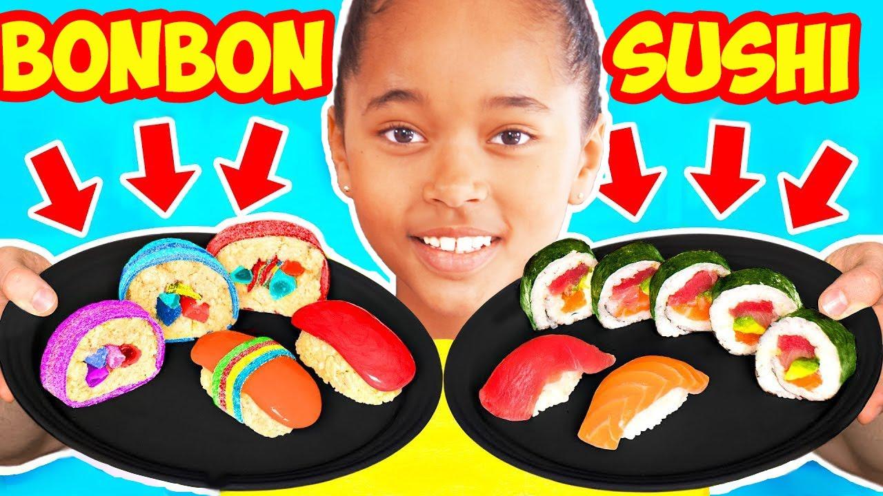 REAL FOOD vs GUMMY FOOD CHALLENGE ! Vraie Nourriture ou bonbon Pour Verity et Chelsea ?