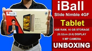 iBall Slide Nimble 4GF Tablet - UnBoxing & Features