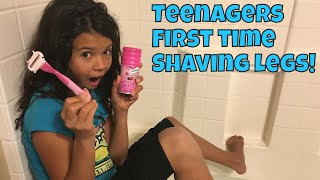 How To Shave Your Legs | Teenager's first time Shaving Legs