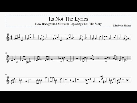 It's Not The Lyrics: How Background Music Tells A Story (Shaher FA4)