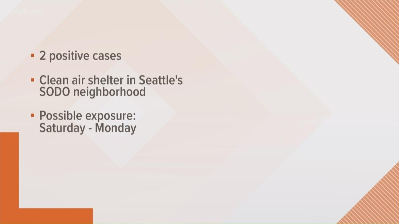 2 test positive for COVID-19 after staying at King County clean-air shelter