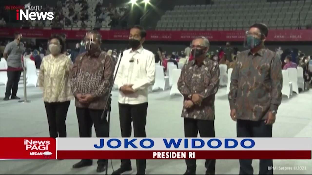 Presiden Jokowi Tinjau Jalannya Vaksinasi Massal untuk Pelaku Jasa Keuangan - iNews Pagi 17/06
