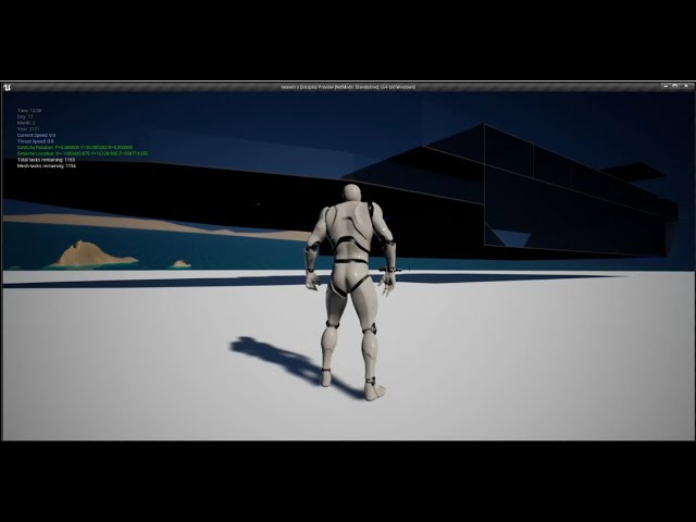 Spaceship With Interior Test in Unreal Engine 4.26