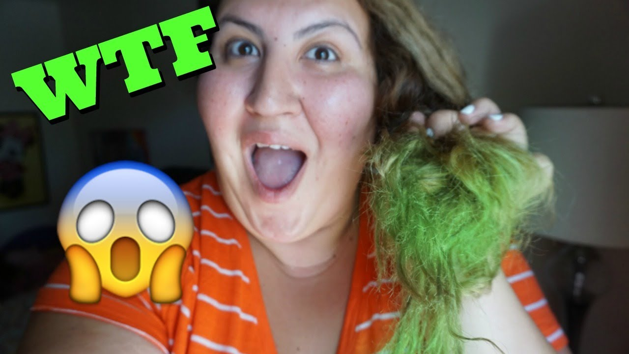 Pool Turned My Hair Green Diy How To Remove Green From Bleached Hair After Swimming In The Pool Youtube