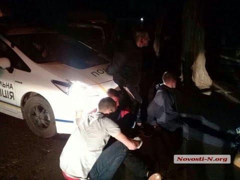 Погоня полиции за пьяными военными в Николаеве.