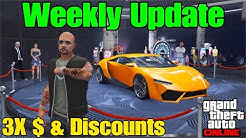 GTA Online Weekly Discounts, Triple & Double Money Bonusses, New Podium Car and More