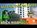 MEGA LEGO MULCHER TAKES OUT SKYSCRAPER - Brick Rigs Gameplay Challenge & Creations