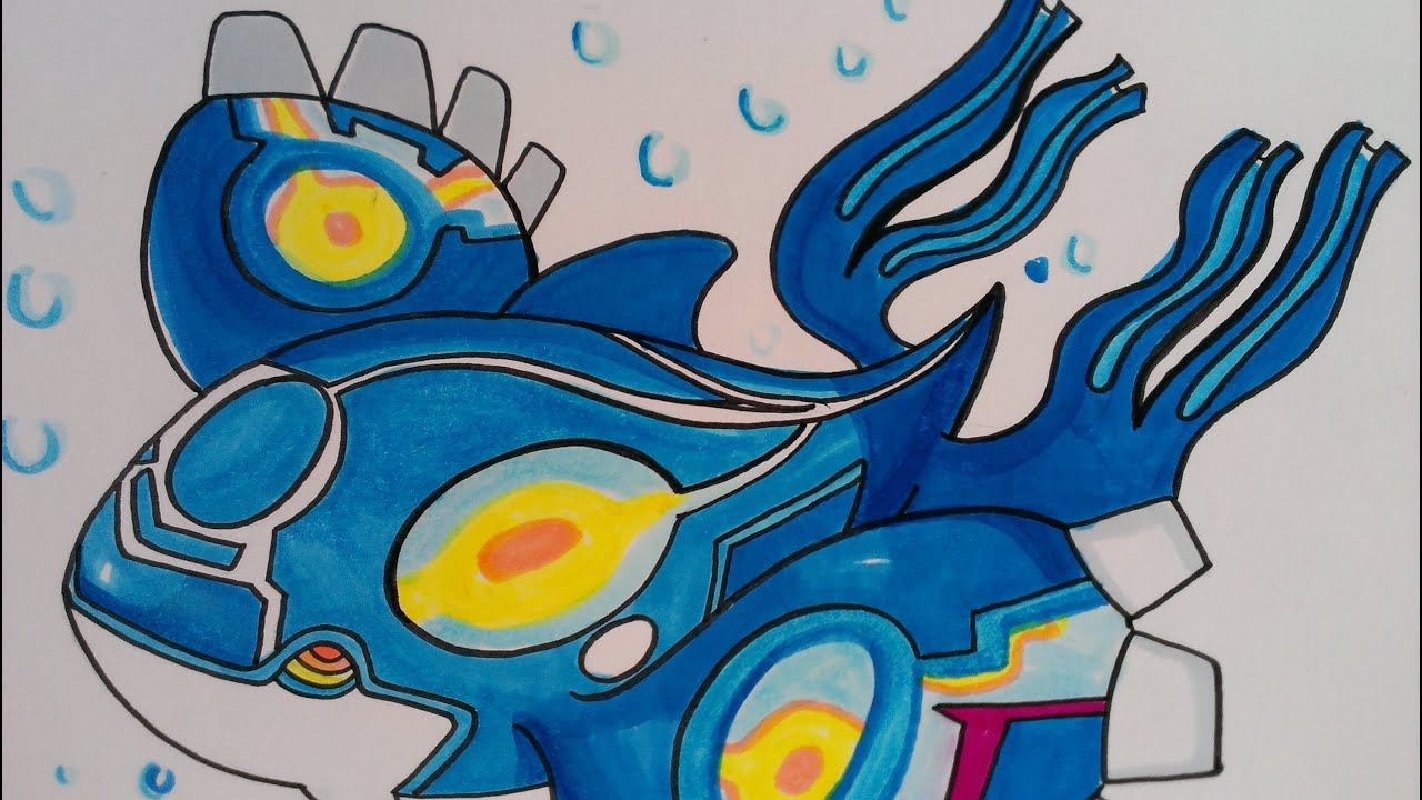 Uncategorized How To Draw Kyogre drawing legendary pokemon kyogre alpha sapphire youtube
