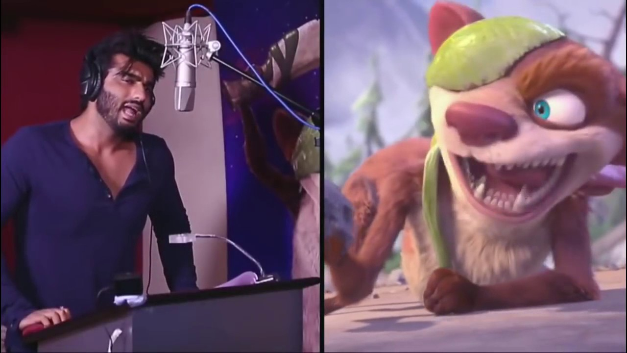 Download Arjun Kapoor As Buck In Ice Age  Behind The Real Voice Collision Course   In Hindi