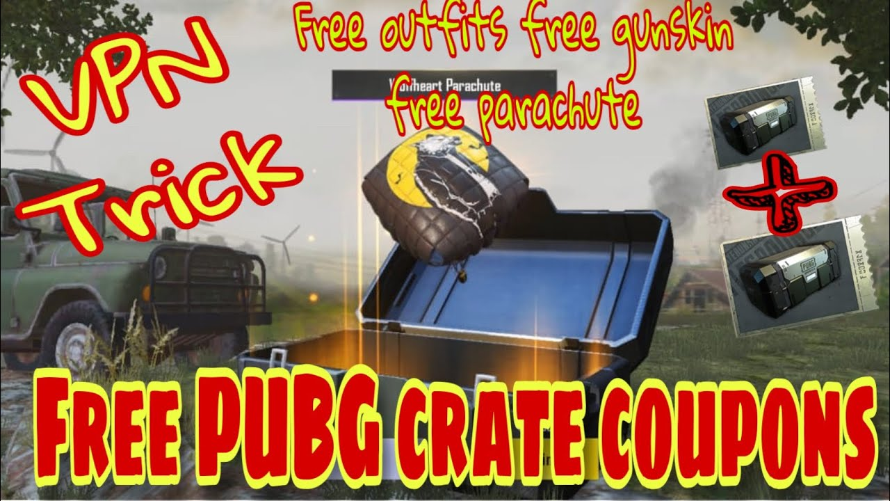 NEW LATEST VPN TRICK Free PUBG Crate Coupon Free pArachute Free gun skin Free outfits Germany VPN