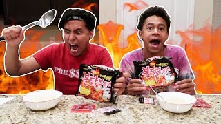 EXTREME SPICY NOODLE CHALLENGE! *RACE MUKBANG*