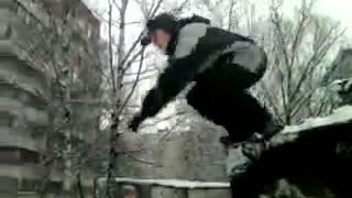 Видеоурок 8- как правильно прыгать с гаража