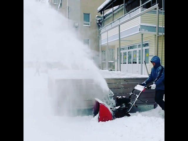 Завораживающий процесс уборки снега 😍😍