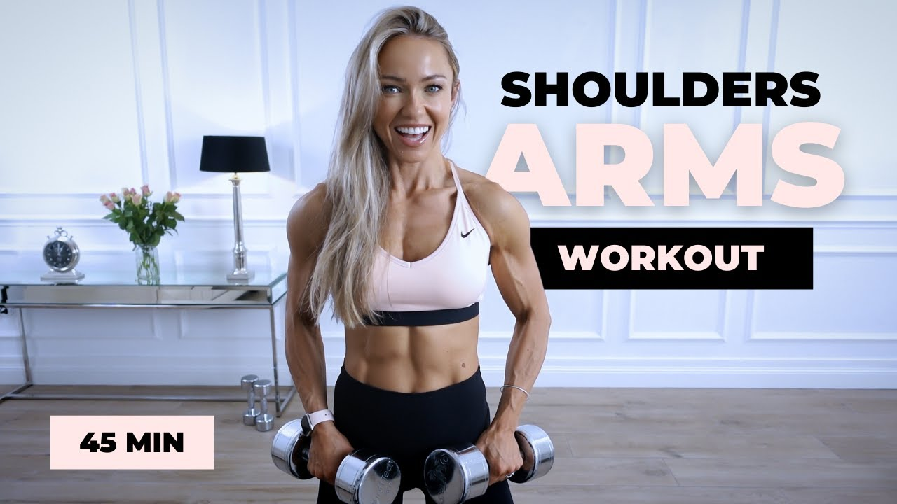45 Minute Unilateral Shoulders & Arms Workout at Home   Caroline Girvan