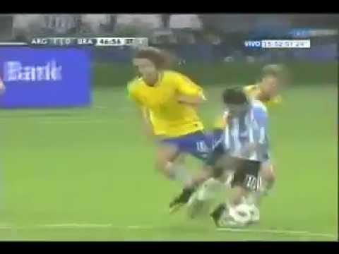 Gol de Messi ( Amistoso en Doha, Qatar / Argentina 1 - Brasil 0 )
