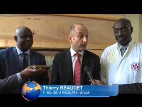 Journal Télévisé RTI 1 don de la mutualité française au SMF - Février 2015