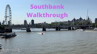London Southbank walk through
