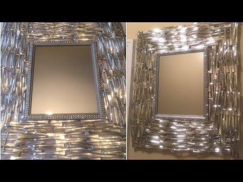 Dollar Tree DIY || Decorative Wall Mirror Using Spoon ...