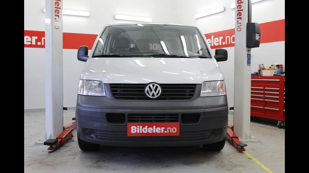 VW Transporter: Hvordan bytte fjærbeinslager foran (T5)