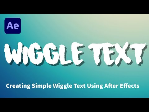 How to Create WIGGLE Text Effect in After Effects (*SUPER SIMPLE TUTORIAL*)