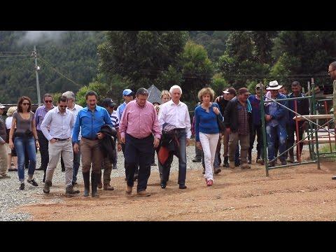 Embajador de Francia visita a las FARC-EP en Cauca