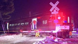 New York Metro-North train slams SUV in deadly collision