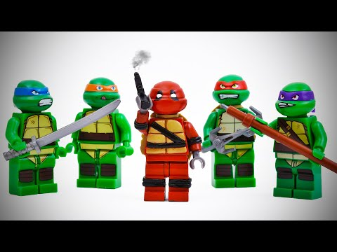 LEGO Deadpool Turns Into a Ninja Turtle ⚫️ TMNT Stop Motion