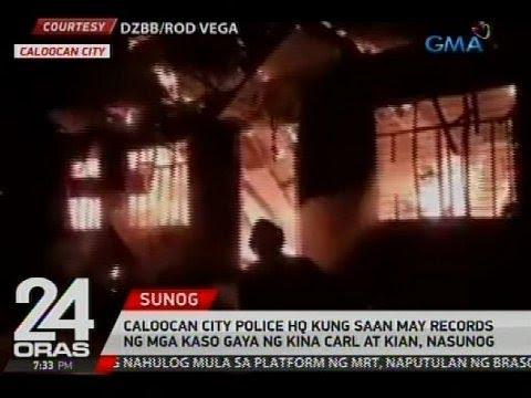 Caloocan City Police HQ kung saan may records ng mga kaso gaya ng kina Carl at Kian, nasunog